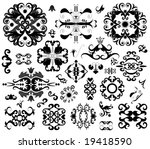 many ornament vector decorative ... | Shutterstock .eps vector #19418590