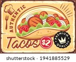 authentic mexican tacos retro... | Shutterstock .eps vector #1941885529