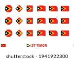 east timor flag set  simple... | Shutterstock .eps vector #1941922300