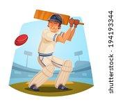 batsman. cricket player. vector ... | Shutterstock .eps vector #194193344