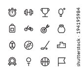 thin line icons for sport.... | Shutterstock .eps vector #194195984