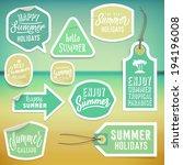 summer holiday vacation... | Shutterstock .eps vector #194196008