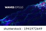 sound wave tranfer motion.... | Shutterstock .eps vector #1941972649