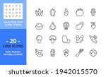 line icons about vegetables....   Shutterstock .eps vector #1942015570