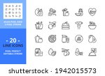 line icons about healthy food....   Shutterstock .eps vector #1942015573