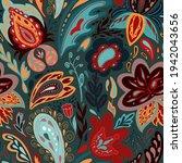 unusual stylized flowers motive.... | Shutterstock .eps vector #1942043656