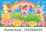 little girl. small fairy ...   Shutterstock .eps vector #1942046419