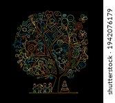 world autism awareness day. art ... | Shutterstock .eps vector #1942076179