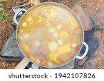 Yummy Soup In An Aluminum Pot...