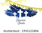 semana santa  translation  holy ... | Shutterstock .eps vector #1942121806