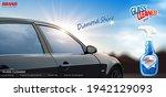 glass cleaner ad banner. 3d... | Shutterstock .eps vector #1942129093