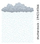 cloud with rain | Shutterstock .eps vector #194214566