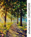 Vertical Oil Painting Spring...