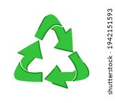 green recycling icon on... | Shutterstock .eps vector #1942151593