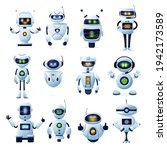 robots and chatbots  ai bots... | Shutterstock .eps vector #1942173589