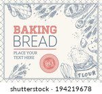 baking bread frame | Shutterstock .eps vector #194219678