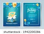 67th years birthday vector...   Shutterstock .eps vector #1942200286