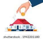 save money for a house buying...   Shutterstock .eps vector #1942201180