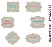set of retro grunge paper... | Shutterstock .eps vector #194220368
