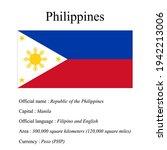 philippines national flag ...   Shutterstock .eps vector #1942213006