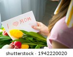 I Love Mom Card Drawing By...