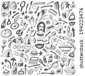 cosmetic doodles | Shutterstock .eps vector #194223476