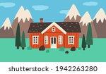 exterior of little wooden...   Shutterstock .eps vector #1942263280