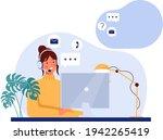 customer support concept.... | Shutterstock .eps vector #1942265419