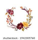 Fall Floral Wreath Illustration....