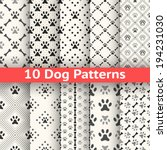 set of animal seamless vector...   Shutterstock .eps vector #194231030