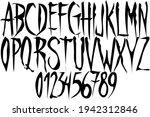 gothic font   stylized horror... | Shutterstock .eps vector #1942312846
