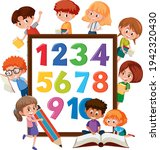 number 0 to 9 on banner with... | Shutterstock .eps vector #1942320430