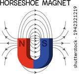 horseshoe magnet diagram for... | Shutterstock .eps vector #1942321219