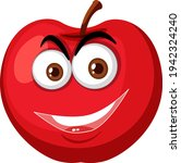 red apple cartoon character... | Shutterstock .eps vector #1942324240