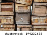 Old Wooden Boxes Stacked...