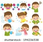 children cold   Shutterstock .eps vector #194236538