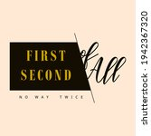 first second of all on way... | Shutterstock .eps vector #1942367320