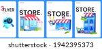 the online store flyers set ...   Shutterstock .eps vector #1942395373