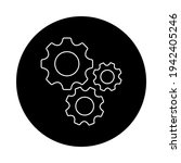 gears icon flat vector.... | Shutterstock .eps vector #1942405246