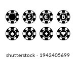 poker chips. clubs. aces. ... | Shutterstock .eps vector #1942405699