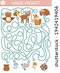 mothers day maze for children.... | Shutterstock .eps vector #1942419406