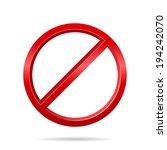 Forbidden Sign. Vector...