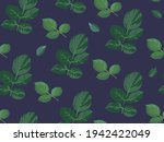 leaves and foliage with stems... | Shutterstock .eps vector #1942422049