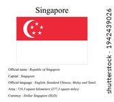 singapore national flag ...   Shutterstock .eps vector #1942439026