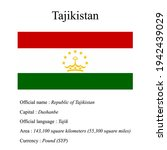 tajikistan national flag ...   Shutterstock .eps vector #1942439029