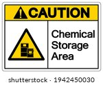 caution chemical storage area...   Shutterstock .eps vector #1942450030