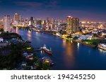 Modern City View Of Bangkok...