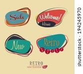 retro design over beige... | Shutterstock .eps vector #194245970