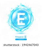 vitamin e  blue shining pill... | Shutterstock .eps vector #1942467043