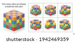 how many cubes are missing to... | Shutterstock .eps vector #1942469359